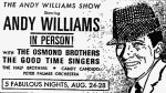 Andy Williams Show Osmond Brothers