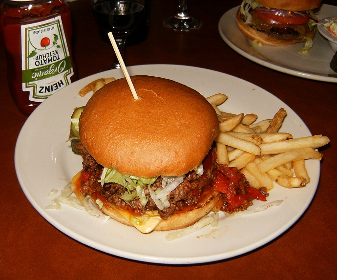 Fred 62 restaurant diner Manhandler Sloppy Joe sandwich