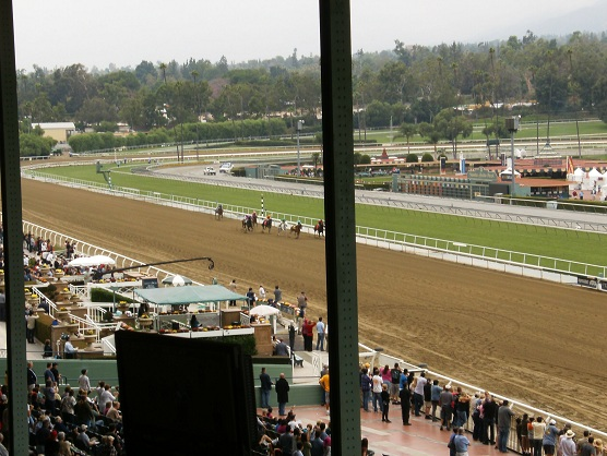 Day At Santa Anita Race Track Clubhouse Luncheon Terrace