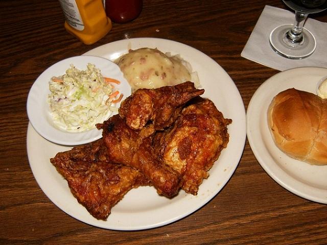 Conrads Restaurant Fried Chicken Dinner Pasadena