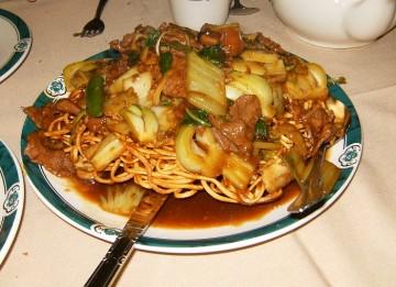 Eagle Rock Green Dragon Restaurant Beef Pan Fried Noodles